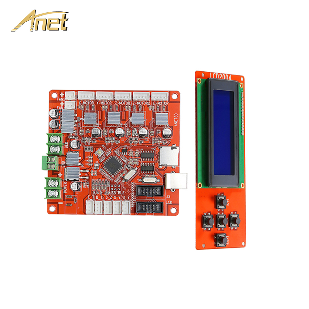 Hot Sale Anet A8 3D Printer board Parts Anet V1.5 Control Motherboard with LCD Screen 2004 for Anet A8 3D Printer accessories 2pcs anet v1 5 motherboard control board 3d printer parts for anet a8