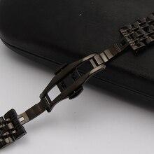 Black metal хомуты передач s2 ремешки прямой конец мода замена смотреть аксессуары браслеты красивые продвижение мужские