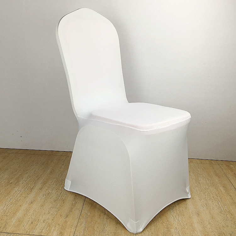 100Pcs Free shipping White Colour spandex chair covers for wedding decoration banquet party lycra chair cover