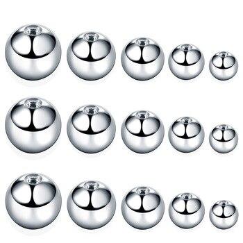 100Pcs/set Stainless Steel Ball Puncture Fittings Threaded Ball Eyebrow Nail, Lip Nail, Tongue Nail, Ear Nail, Horseshoe Ring, N