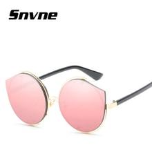 Snvne película de color del ojo de gato gafas de Sol de Moda de señora gafas de sol para hombres mujeres Marca de diseño gafas de sol oculos feminino mujer KK558