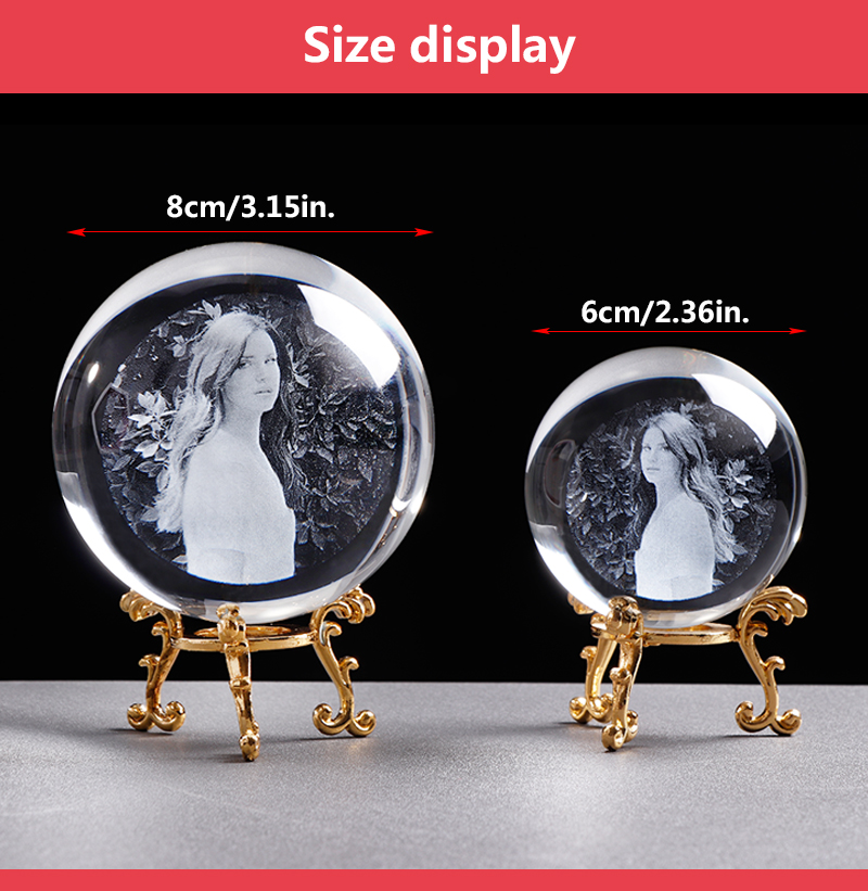 Personalized Crystal Photo Ball Customized Picture Sphere Globe Home Decor Accessories Baby Photo Gift for Girlfriend 17