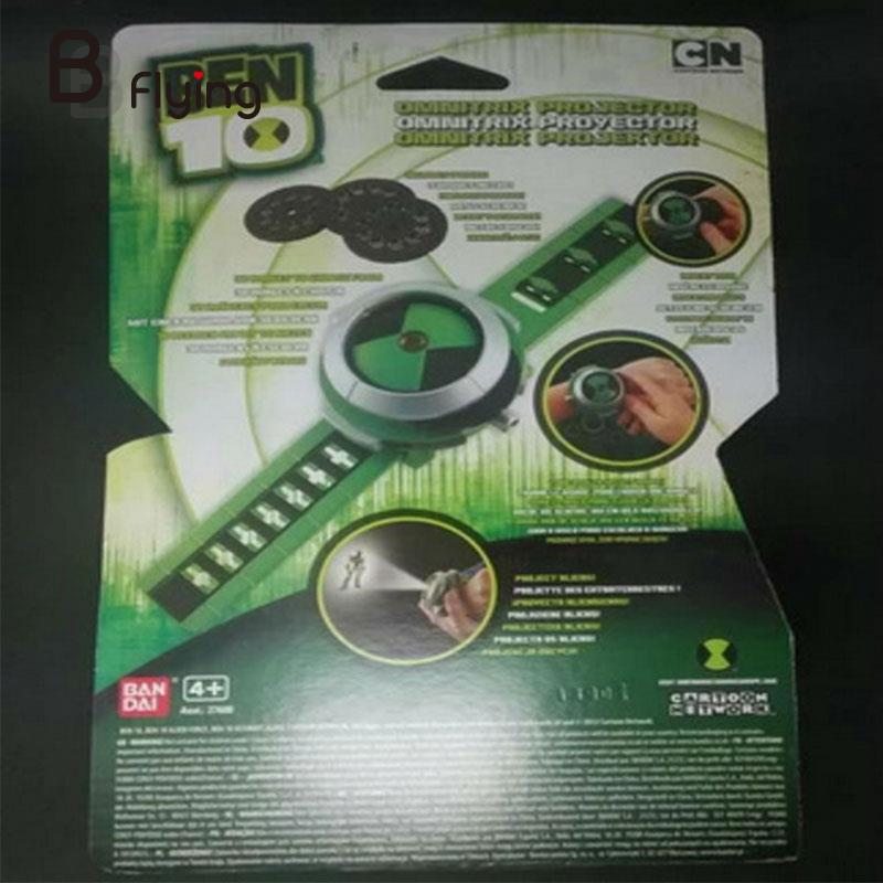Bandai Ben10 Projector Watch Cartoon Watches Toy Ben 10 Projector Gifts for Kids