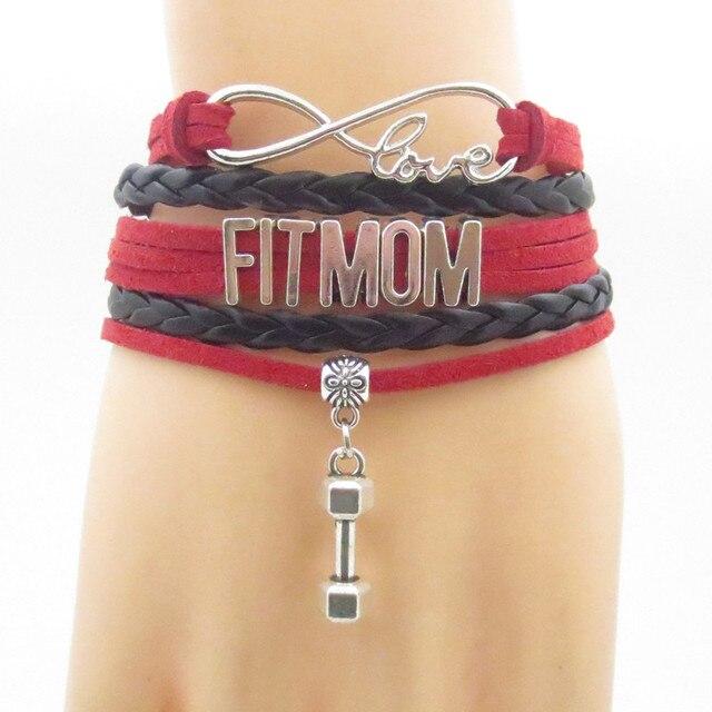 Love Fit Mom Bracelets Infinity Exercise Bracelet Fashion Fitness For