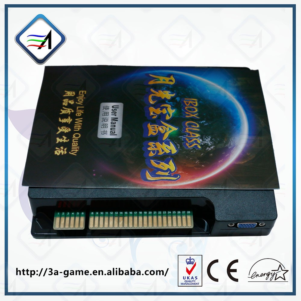 Single Game System IBOX 1 Game arcade game pcb jamma board wms 550 casino game pcb gambling board 8 lines must use touch screen play the game support bill accepter for slot game machine