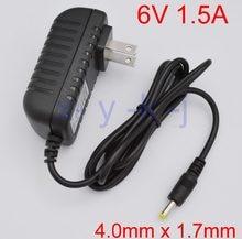 1 PCS 6 V 1.5A Alta qualidade AC 100 V-240 V Adaptador Conversor de energia IC DC BATERIA 6V1. 5A 1500mA fonte de Alimentação EUA Plug DC 4.0mm x 1.7mm