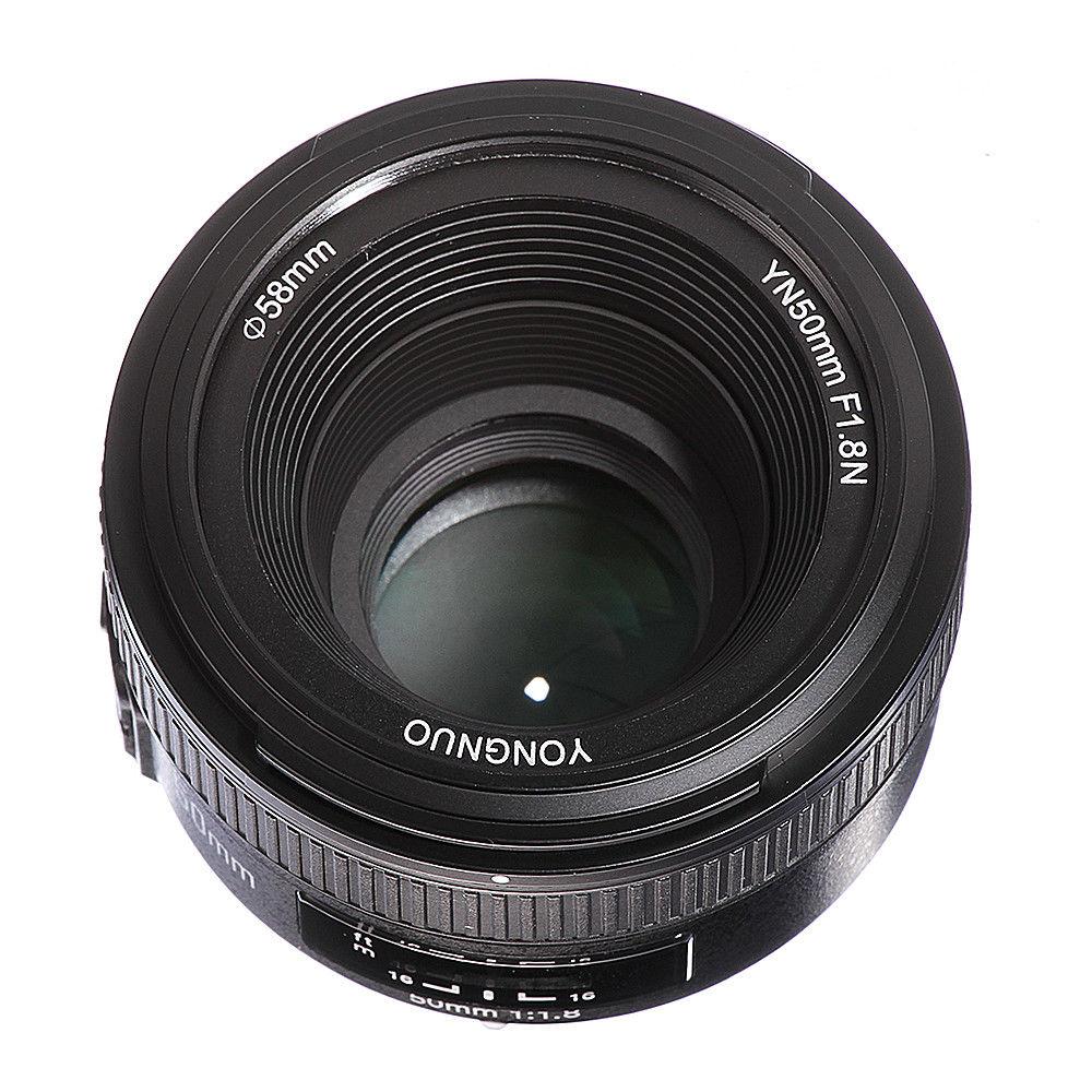 Objectif de mise au point automatique/manuelle Yongnuo YN50mm F1.8 AF/MF pour Nikon D800 D750 D7200 D7100