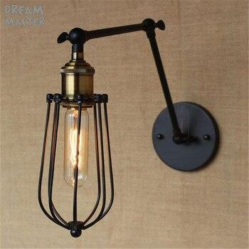 Loft Retrò Industriale A due sezioni Altalena braccio In Metallo lampada Da Parete Apparecchio di wandlamp industrieel lampara de pared espejos bano
