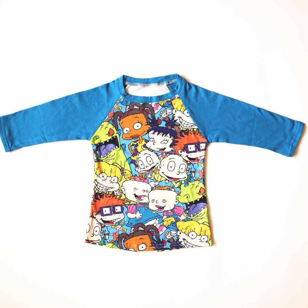4f571c9800c2 2019 Spring Baby Boy Raglan T-shirt Boy Long Sleeve Cartoon Kids Animal  Pattern Blue