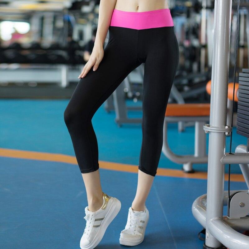8832576b US $6.94 49% OFF|2019 Hot joga spodnie do biegania dla kobiet damskie  legginsy na siłownie dziewczyny rajstopy sportowe 3/4 kompresji spodnie ...