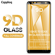 Cqqdoq 9D Full Protection Tempered Glass For Samsung A6 A8 Plus A5 A7 A9 2018 Screen Protector Galaxy J4 J6 J8 Film
