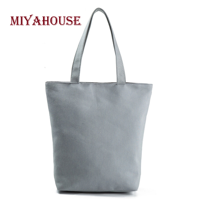 Candy Color Shoulder Bags Female Canvas Tote Handbags Fashion Tower Printing Beach Bag For Women Shopping Bag 5