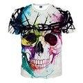 Poleras Hombre 2017 Fashion Brand Clothing Summer Men's Short Sleeve 3D Skull Printed Hip Hop T Shirt Tops Tees Homme Camisetas