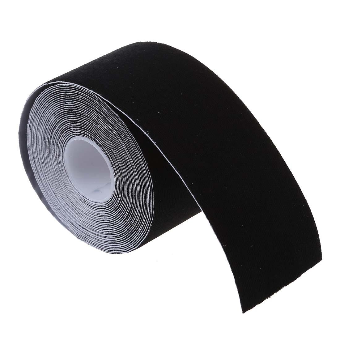 1 рулон Спортивной Кинезиологии мышцы уход Фитнес спортивные здоровья ленты 5 м * 5 см-черный
