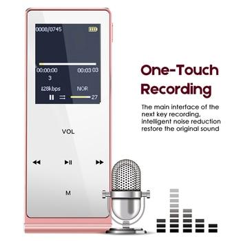 aa16b485e8dc MP3 Hifi reproductor 100% versión Original en inglés ultrafino carcasa de  aleación de reproductor de música con 8 GB de almacenamiento táctil llaves 1