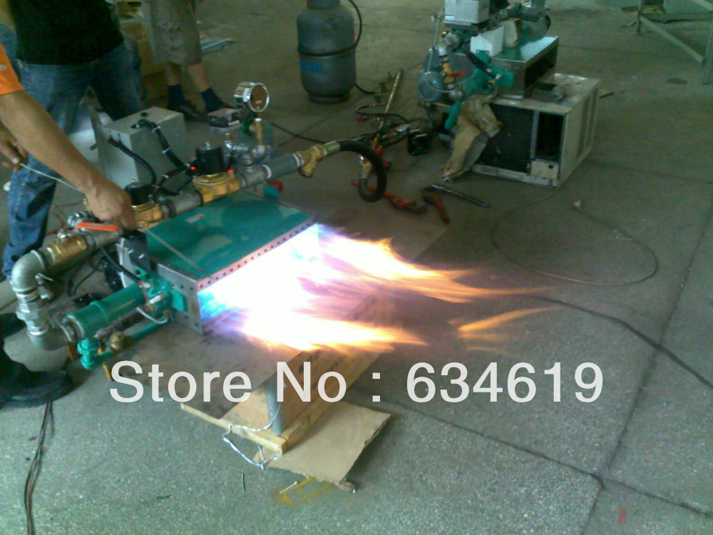 690kw Industrial Hot Air LPG Gas Linear Burner Automatic Control Gas Heater Gas Heating Machine For Powder Coating
