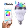 Wireless Bluetooth AUdio Speakers E27 LED RGB Light Music Bulb Lamp Color Changing via WiFi App Control