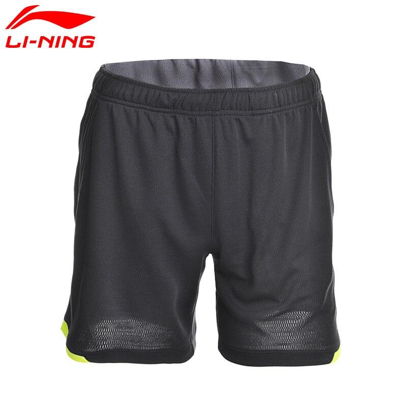 Li-Ning Для мужчин Шорты для бадминтона конкурс на atdry дышащий 100% полиэстер подкладка Спортивные шорты aapm132