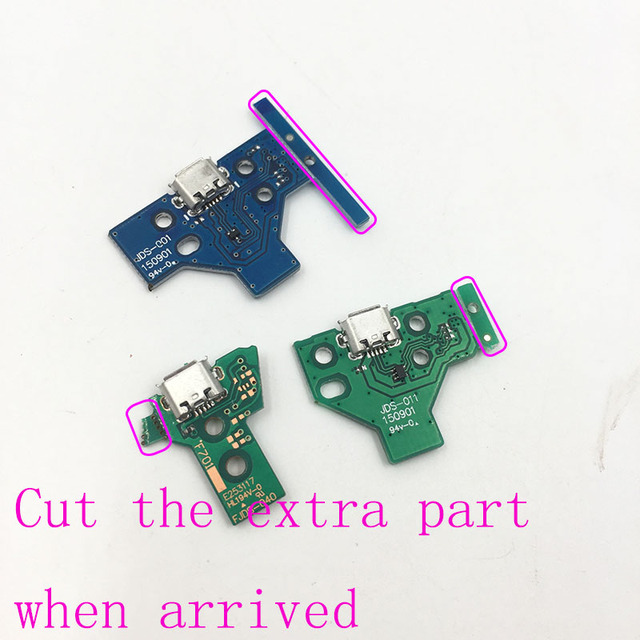 For PS4 Controller USB Charging Port Socket Circuit Board 12Pin JDS 011 030 040  14Pin 001 Connector 2