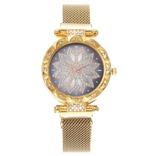 Ms. mesh magnet buckle star sky watch casual fashion luxury womens geometric surface quartz Relogio Feminino