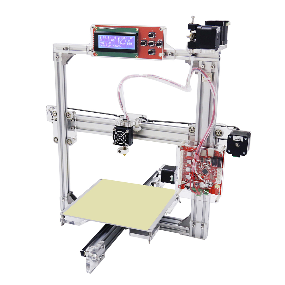 Anet A2 3D Printer 3D Printing DIY Aluminum Metal 3D Three-dimensional 0.4mm Nozzle with TF Card Off-line Printing LCD Display anet a2 12864 large aluminium metal 3d printer with lcd display