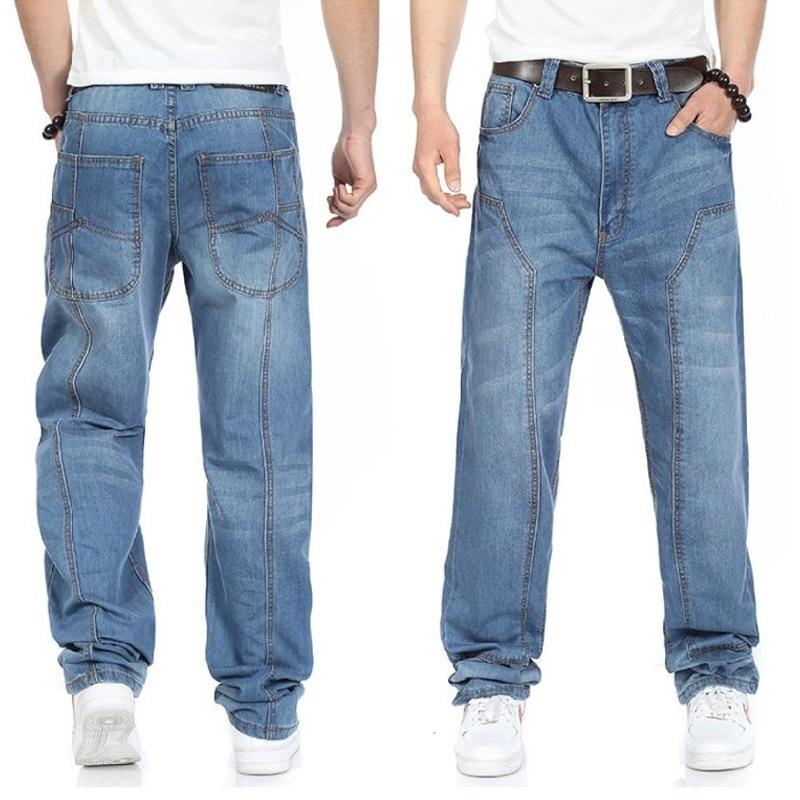 Новинка 2019, повседневные джинсы большого размера для мужчин, плюс удобрения для повышения индивидуальности, Модные свободные джинсы в стил
