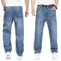 2015 новый повседневная большой размер джинсы мужчин плюс удобрения для увеличения индивидуальность моды Хип-Хоп джинсы Свободные