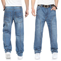 2015 new casual large size jeans men plus fertilizer to increase the individuality fashion Hip hop jeans Loose