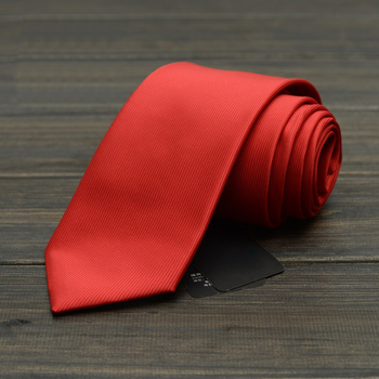 2019 Fashion Black Red Solid Color Neckties Formal Business Wedding Party Ties For Men 8CM width Marriage Accessories Gift Box