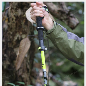 Image 5 - 2pcs/pack Carbon Fiber Trekking Poles Ultralight Folding Collapsible Trail Running Hiking Walking Sticks Lightweight Canes