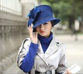 2017 Winter Warm Women Wool Felt Hat Cocktail Evening Wedding Party Dress Derby Church Wide Brim Berets Fedora Beanies New Cap