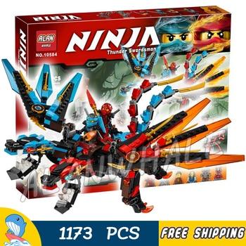 1173pcs Ninja Fusion Dragon's Forge Buffmillion Mech Chimera Blacksmith 10584 Figure Building Blocks Toy Compatible With Lago