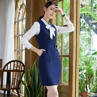 New Fashion Striped Dress With Blouse For Ladies Work Wear Uniform Styles Professional Blazers Suits Plus