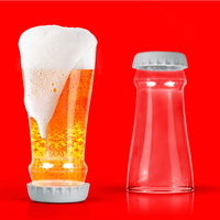 High Borosilicate Glass Whisky Cup Beer Bottle Upside Down Shaped Creative Home Hotel Bar Party Glass