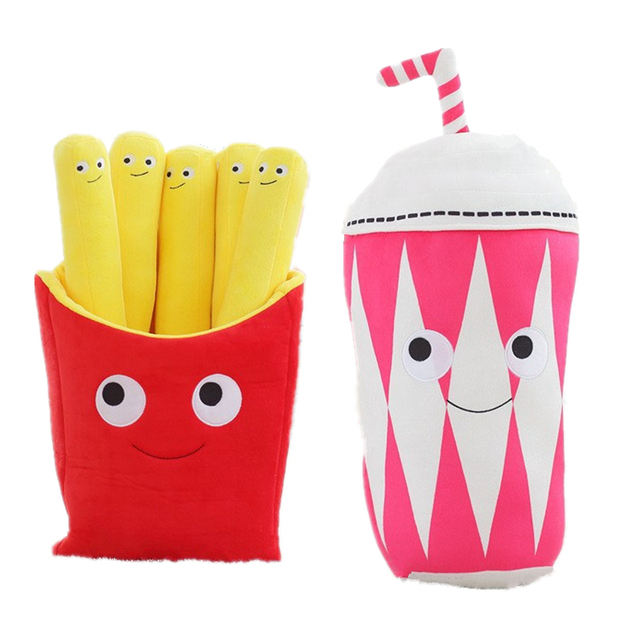 Funny Kawaii French Fries Plush Soft Toy For Boyfriend Birthday Gift Girlfriend Present Weird Cute Plushy Valentine Stuff 1pcs