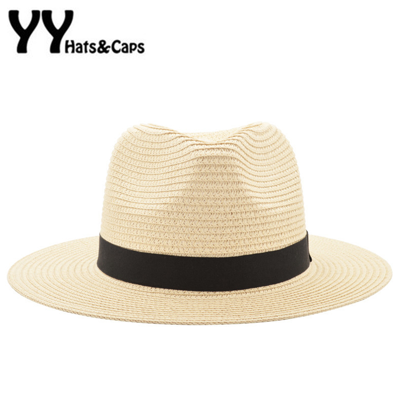 Offizielle Website 2019 Frauen Und Männer Neue Mode Stroh Sommer Casual Trendy Strand Sonne Stroh Panama Jazz Hut Cowboy Fedora Hut Gangster Kappe Sonnenhüte