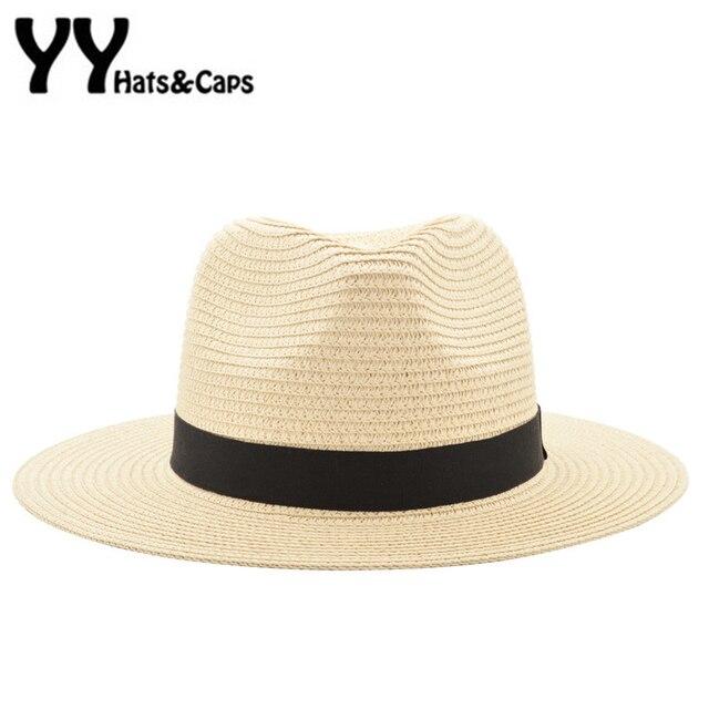 Vintage Sombrero Panamá hombres Fedora paja hombre Sombrero de las mujeres  de playa verano casquillo del. Sitúa el cursor encima para ... ce1ee219cba