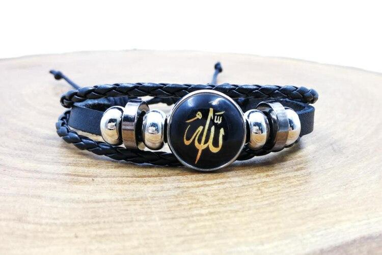 Turkish Design Men's bracelets Muslim Gift for eid ALLA Word islamic accessory Hand strap Islam bracelet