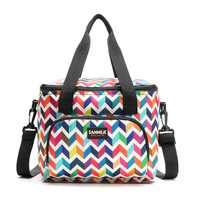 Ruique Girls Candy Color Portable Tote Storage Picnic Bags Waterproof Thermal Cooler Insulated Lunch Bag Office Food Bag