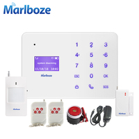 Wireless Metal Remote Control Touch Screen 315mhz 433mhz GSM Home Security Alarm System French Rusian Spanish