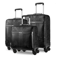 Genuine Leather Travel Suitcase set Rolling Luggage Women Trolley case with Wheels Man 20boarding box carry on Travel Bag Trunk