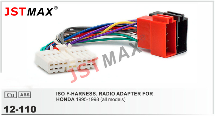 JSTMAX ISO Cable Car Radio Stereo Adapter ISO FOR HONDA