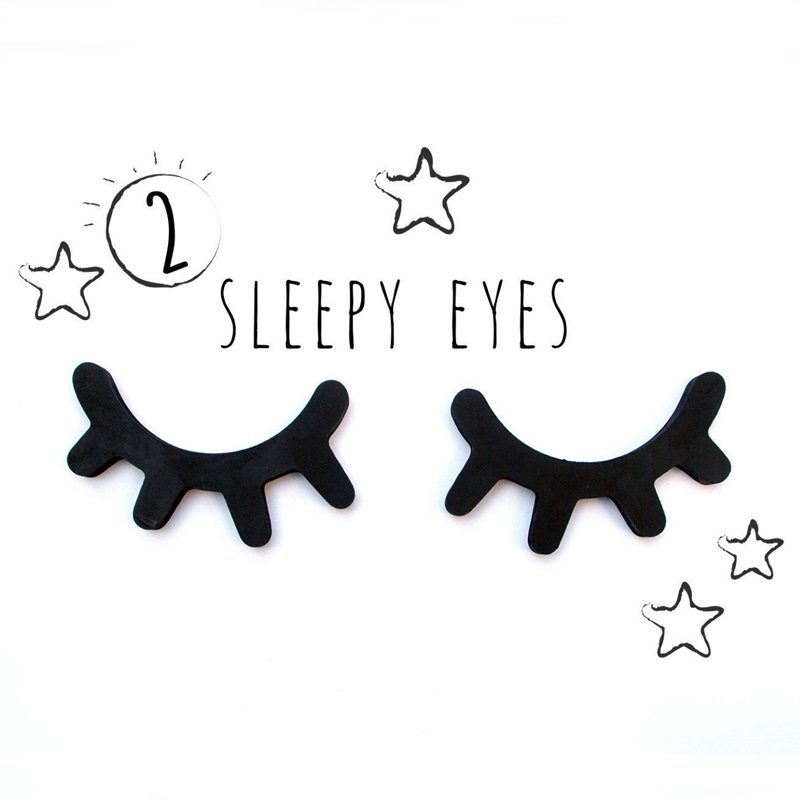 2pcs 3D Wooden Eyelash Home Furnishing Wall Decoration ...