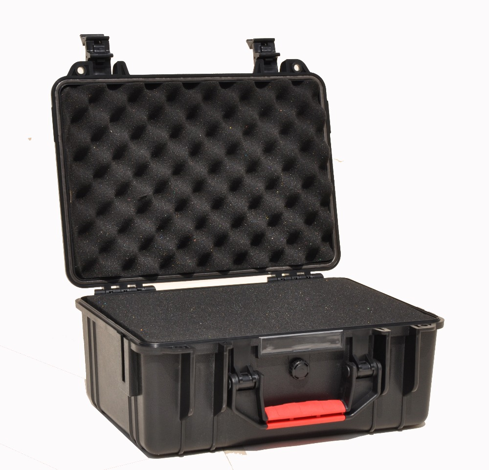 ABS Tool Case Toolbox Suitcase Impact Resistant Sealed Waterproof ABS Case Security Equipment Spare Parts Kit  With Pre-cut Foam