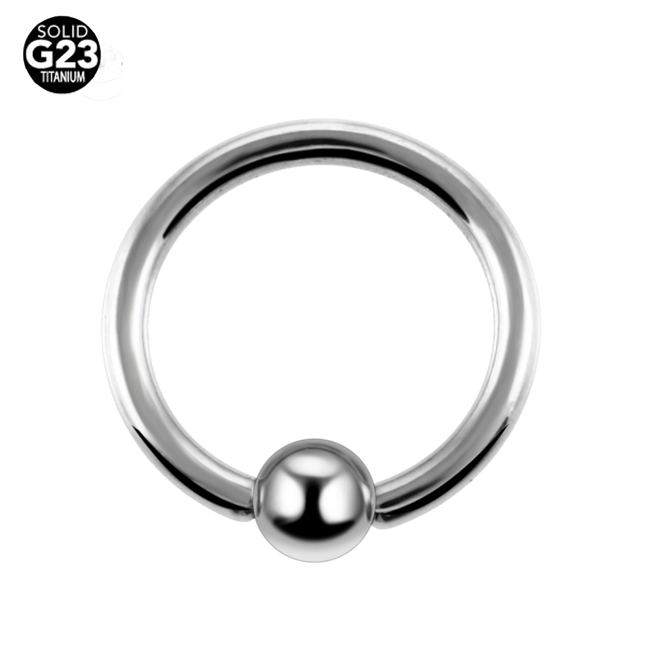 10 pçs/lote G23 Titanium Captive Bead Anel Piercings Septo Clickers Nariz Anéis Gauges Jóia Do Corpo