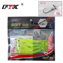 Soft Worm Grub Wobbler Fishing-Lure Paddle-Tail-Lure T-Tail Swim Bait Bass 4/5PCS