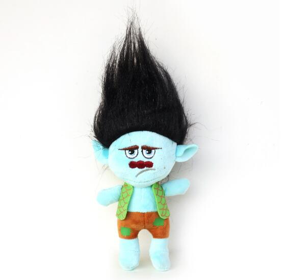 2017 Hot Toys 2 Sizes Dreamworks Movie Trolls Toy Plush Trolls 2 Colors Branch Trolls Figures Magic Fairy Hair Wizard Kids Toys