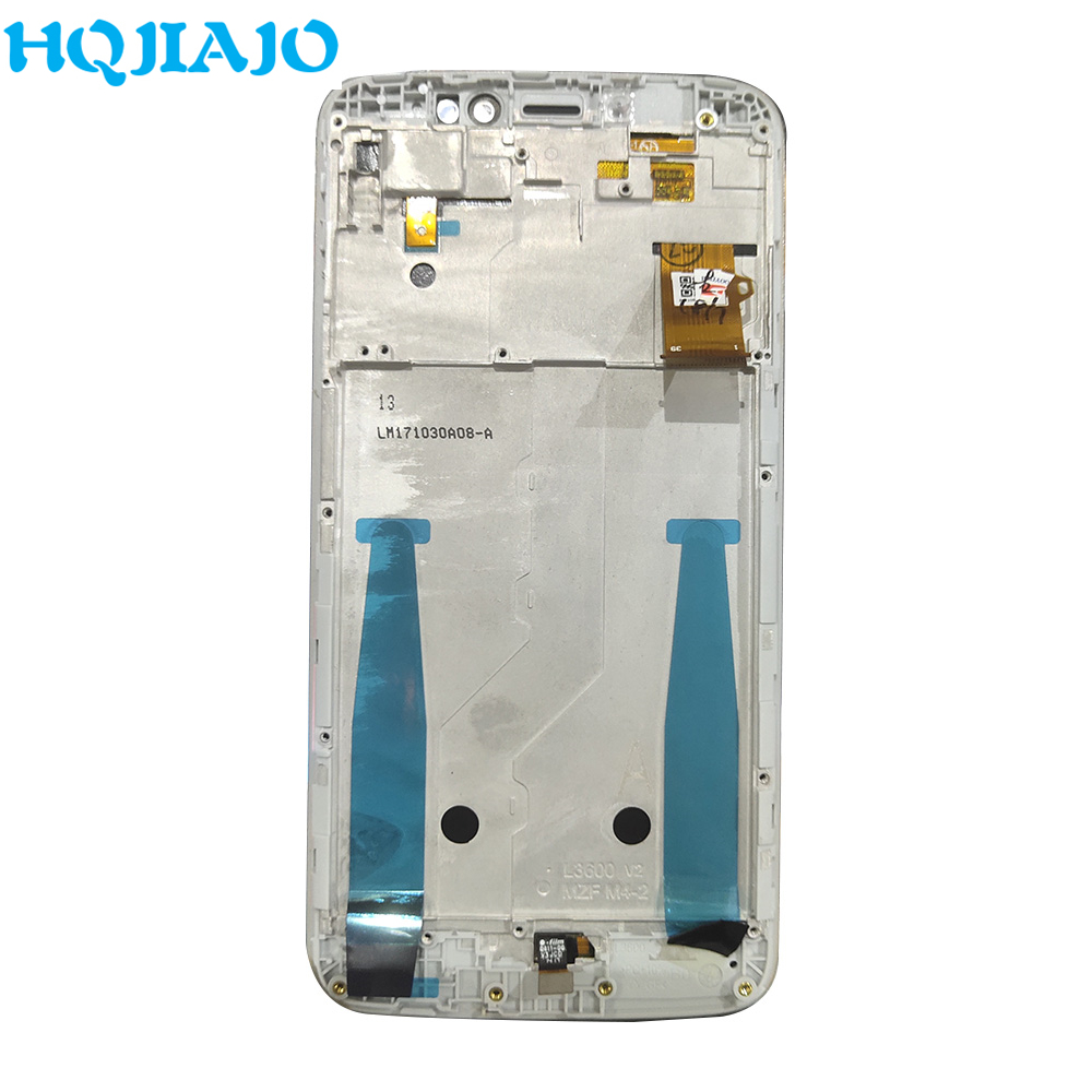 Test Super AMOLED LCD For <font><b>Moto</b></font> <font><b>E4</b></font> <font><b>Plus</b></font> <font><b>XT1770</b></font> XT1773 XT1771 XT1772 LCD <font><b>Display</b></font> Touch Screen Digitizer Assembly With Frame image