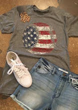 Chulianyouhuo T Shirt Women Clothing American Flag Baseball Printed T-Shirt Top Summer Short Sleeve O-neck t-shirts Tops Tee