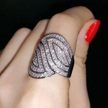 Muy conveniente y cómodo hojas simetría ALW1669 regalo del anillo de dedo para las mujeres